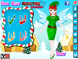 Daisy Christmas Girl Dressup game