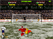 Santa's penalty kick world cup game