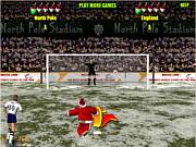 Santa's penalty kick world cup game