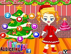 Angela Christmas Dressup game