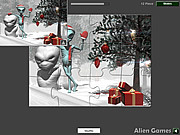 Christmas Alien Jigsaw game