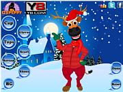 X mas Reindeer Dress Up game