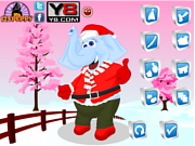 Christmas Elephant Dress Up game