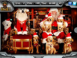 Santa Paws - Hidden Objects game