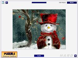 Cute Snowmen Jigsaw game