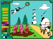 Wild Sheep Coloring game