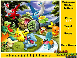 Pokemon Hidden Letters game