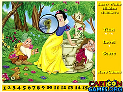 Snow White Hidden Numbers game