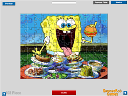 SpongeBob Dinner Jigsaw game