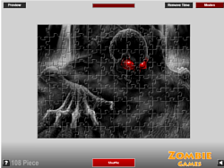 Scary Zombie Puzzle game