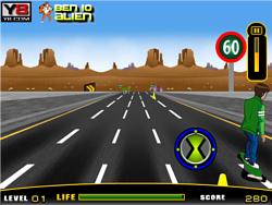 Ben 10 Highway Skateboarding game