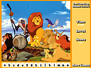 The Lion King Hidden Letters game