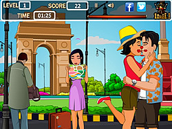 Tourist Kissing game