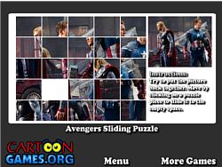 Avengers Sliding Puzzle game