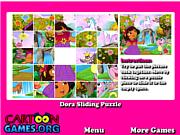Dora Sliding Puzzle game