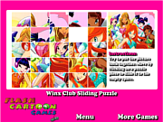 Winx Club Sliding Puzzle game