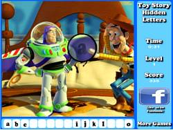 Toy Story Hidden Letters Game game