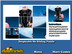 Despicable Me Sliding Puzzle game