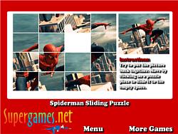 Spiderman Sliding Puzzles game