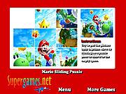 Jogar jogo grátis Mario Sliding Puzzle
