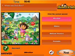 Dora The Exploer Quiz game