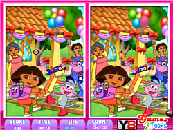 10 Differences Dora the explorer game