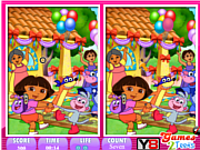 10 Differences Dora the explorer game