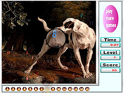 Big Garden Doggies Hidden Numbers game