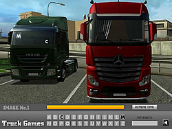 Hidden Truck Letters game