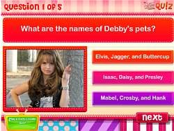 DM Quiz: How well do you know Debby Ryan? game