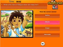 Go Diego Go Quiz game