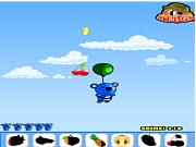 Blue panda fruit catcher game