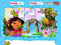 Jolly Jigsaw Puzzle - Dora the Explorer game