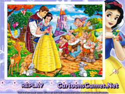 Snow White Sort My Jigsaw game