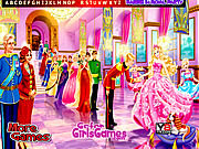 Barbie in Royal Party Hidden Letters game