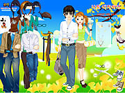 Spring Couple Dress up game