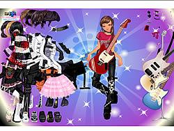 Rock Girl Dress Up game