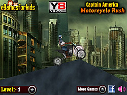 Captain America Motorcycle Rush game