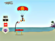 Play Daffy duck sky diving Game