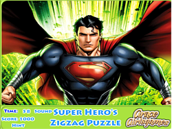 Super Hero's Zigzag Puzzle game