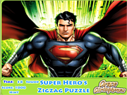 Super Hero's Zigzag Puzzle game