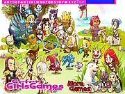 Juega al juego gratis Cartoon Legends Hidden Letters