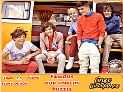 Famous pop singers puzzle game