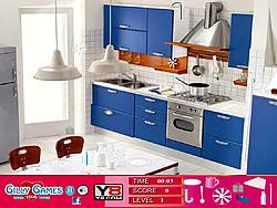 Modern Blue Room Hidden Objects game