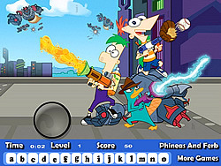 jeu Phineas And Ferb Hidden Letters