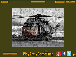 Military Helicopter Jigsaw game