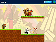 juego Bear Two Driving a Cannon