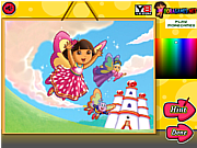 Dora Crystal Kingdom Coloring game