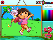 Dora The Explorer Coloring game