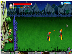 Cat and Zombie War game